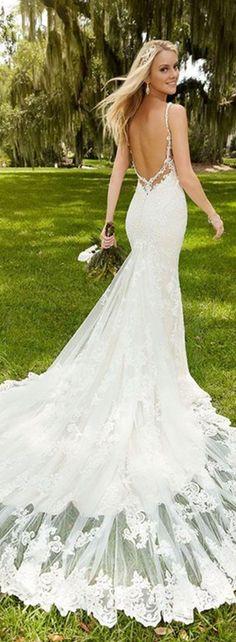a5d08650ac Lace wedding dresses 2018 Awesome 74 Unique   Sexy Wedding Dresses Wedding  Dress Long Train