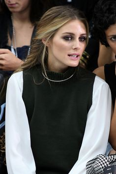 Olivia Palermo attends the Mary Katrantzou runway show during London Fashion…