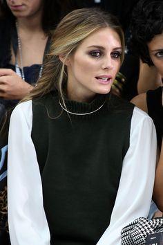 Olivia Palermo attends the Mary Katrantzou runway show during London Fashion…