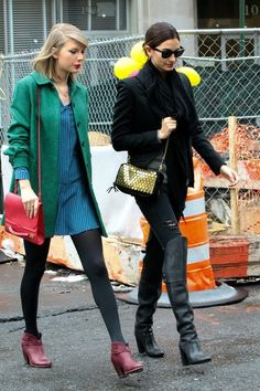 Taylor Swift - Taylor Swift and Lily Aldridge take a stroll