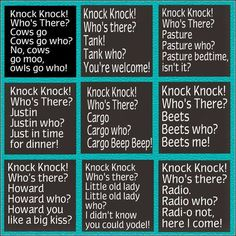 Funny knock knock jokes for kids :)                              …