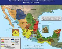 Así se dividen México los carteles del narcotráfico, según la DEA