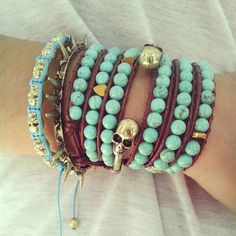 turquoise / arm party