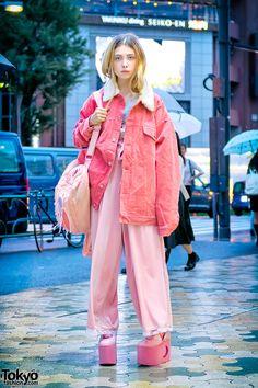 Sheidlina in Harajuku w/ Pink Street Style by Little Sunny Bite, Bubbles & YRU