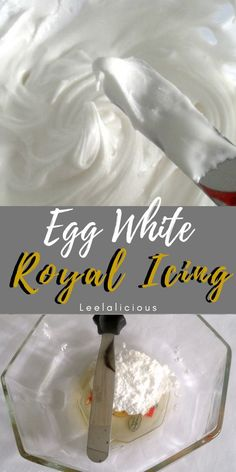 No mixer – No Problem! Learn how you can make quick and easy Egg White Royal Icing by hand. Perfect when you need just a little icing to frost a small batch of cookies. white EASY ROYAL ICING BY HAND Icing Recipe For Cake, White Frosting Recipes, Royal Icing Recipe With Egg Whites, Egg White Recipes, Best Royal Icing Recipe For Decorating Cookies, Recipes With Egg Whites, Royal Icing Recipe Without Meringue Powder, Icing Recipes, Powdered Sugar Icing