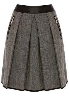 Clothing | Black CONTRAST WAISTBAND TWEED SKIRT | Warehouse