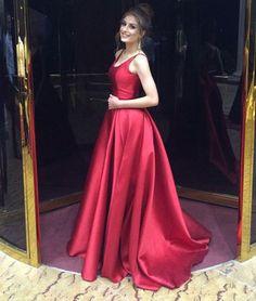 Evening Dress Store-O-Neck Prom Dress,Backless Prom Dress,A-Line Prom
