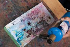 Learn an #encaustic technique from Supria Karmakar, a contributor to Seth Apter's new book, The Mixed-Media Artist!
