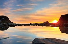 Sunset over one of Finland's 187,888 lakes.