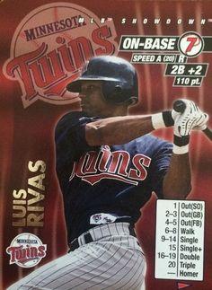 Luis Rivas Minnesota Twins, Mlb, Baseball Cards, Sports, Hs Sports, Sport