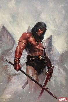 Savage Sword of Conan: The Original Marvel Years Omnibus Vol. Marvel Comics, Conan Comics, Fantasy Warrior, Fantasy Art, Warrior Pose, Comic Books Art, Comic Art, Conan The Destroyer, Great Sword