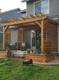 Living so close to neighbors we put up a little privacy wall on our pergola.