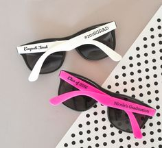 Be the hottest graduates at your ceremony this year with Custom Graduation Sunglasses! These stylish sunglass favors make the perfect gift for everyone attending your graduation party or for you and y