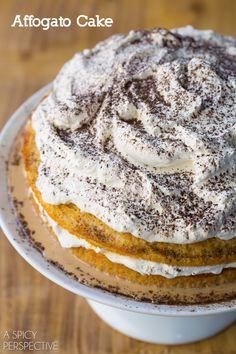 Affogato Cake - Silky luxurious cake with espresso cream! #holiday #espresso #cake