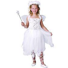 White Angel Girls Costume Kids Fancy Dress Christmas Snow Fairy ** Wings Halo