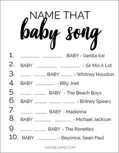 Home Decor Kmart Baby Shower Games - Baby Songs.Home Decor Kmart Baby Shower Games - Baby Songs Baby Shower Simple, Easy Baby Shower Games, Baby Games, Baby Shower Themes, Baby Shower Twins, Baby Boy Shower Games, Baby Shower Charades, Baby Shower Songs, Baby Shower Quiz