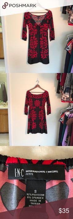 ❤️Beautiful INC black & red dress❤️ ❤️Beautiful INC black & red dress, plunging neckline, very sexy❤️ INC International Concepts Dresses