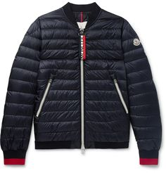 This 'Daneb' bomber jacket reworks <a href='http://www.mrporter.com/mens/Designers/Moncler'>Moncler</a>'s mountaineering tech into a sleek piece for the city. It's made from shell, padded with insulating down to keep you warm without adding bulk or weight and fitted with ribbed jersey trims for trapping heat. The brand's heritage tricolour is highlighted along the zip-pulls.