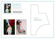 nines, dolls, poupée, muñecas: Patró imprimible de mono / romper per a Disney Animator
