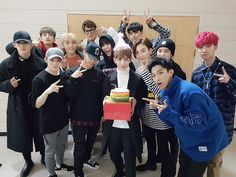 and for Taehyung's long lost twin from another mom XD The guy who had the same birthday and born at the same year. HAPPY JOSHUA DAY!!~ look at them celebrating Joshua's birthday TTUTT