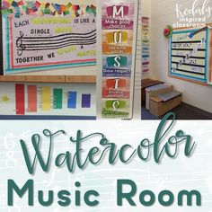Kodaly Inspired Classroom: Music Room Reveal - Ideas for setting up your music room with bulletin boards, music rules, solfege and dynamics posters, classroom management and more!