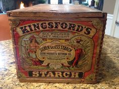 Kingsford Starch Advertising Crate Store Display by JimmyCrackKorn
