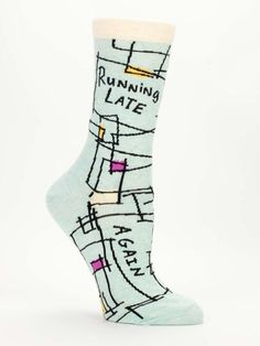 9e20c597904c Running Late, Again Women's Socks in Mint Sage by BlueQ – The Bullish Store  #