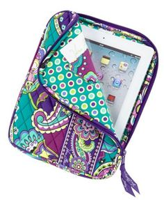 "8"" x 10 ¼"" x 1"" Vera Bradley ""Heather"" Tablet Sleeve $38.00 #MySuiteSetupSweepstakes"