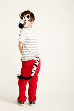 Opposite of Far -- ZEBRA Mask + Tail Set- New! Image by Sara Pine Photography