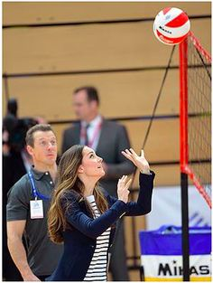 Duchess of Cambridge setting the ball. Even she loves volleyball.