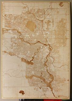 Laser Engraved Calgary Map by Solarbotics.com, via Flickr
