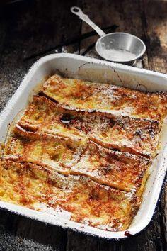 Croque-cake façon pain-perdu...ou l'inverse ?Issu du blogDorian cuisineDu sucré, même en croque-cake! Ici, on réalise une sorte de pain-perdu au four, tout aussi (sinon plus) appétissant que dans sa version cuite à la poêle.Trouvé sur Pinterest «Carole Coms»