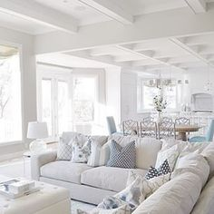 7 Healthy Cool Tips: Coastal House Modern coastal dining fabrics.Coastal Living Room On A Budget coastal table diy. Coastal Living Rooms, Home Living Room, Living Room Designs, Living Room Decor, Kitchen Living, Living Area, Hamptons Living Room, Beach Living Room, Coastal Entryway