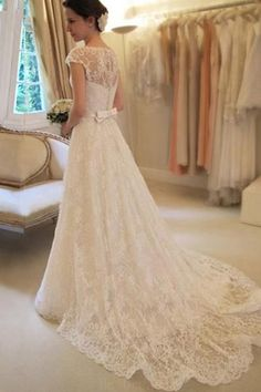 Short sleeve Wedding Dresses, Wedding Dresses Lace, Wedding Dresses 2018, A-Line Wedding Dresses, Beautiful Wedding Dresses #ShortsleeveWeddingDresses #WeddingDresses2018 #BeautifulWeddingDresses #ALineWeddingDresses #WeddingDressesLace