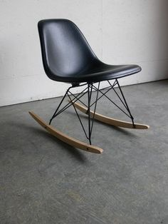 The Classic Eames Silhouette And Design Eames Midcentury Furniture Rocking Chairs #chairs, #rockingchairs, #furniture,
