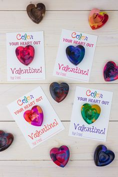 Heart Crayons-10.jpg by thenerdswife, via Flickr This would be a great way to use up all the old crayons in my classroom closet!  I think the children would love to receive this valentine.