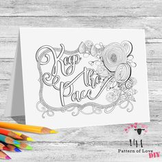 Keep the Pace Coloring Printable Note Cards | Etsy Jw Gifts, Note Cards, Card Stock, Coloring, Printables, Notes, Lettering, Paper, Prints