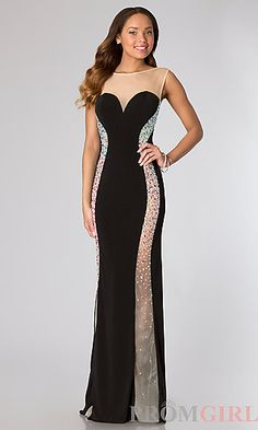 Floor Length Sleeveless Open Back Dress from JVN by Jovani at PromGirl.com