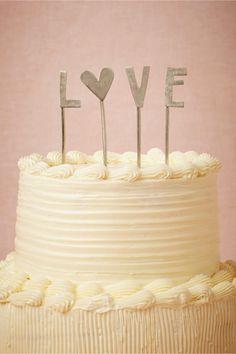 L-O-V-E Cake Topper from BHLDN