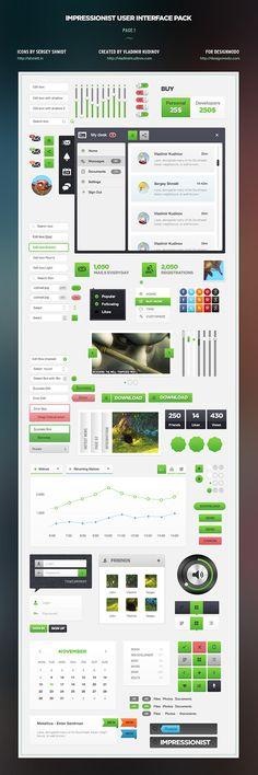 Designmodo Impressionist UI pack $39 (personal licence) or $149 (developer license)