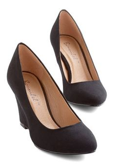 All Work and Go Play Wedge in Black