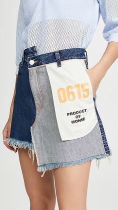 online shopping for Monse Inside Out Denim Skirt from top store. See new offer for Monse Inside Out Denim Skirt Denim Fashion, Fashion Outfits, Womens Fashion, Fashion Fall, Diy Vetement, Fashion Details, Fashion Design, Jeans Rock, Look Cool