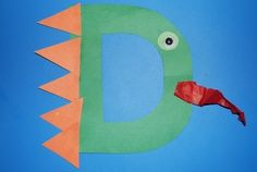 Alphabet Letter D is for Dragon Craft for Kids! We
