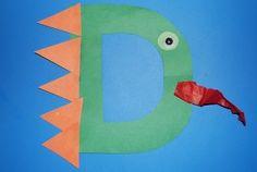 Alphabet Letter D is for Dragon Craft for Kids! We