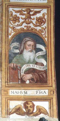 Giovan Battista Guarinoni - Nahum - affresco - 1577 circa - Cappella centrale - Chiesa San Michele al Pozzo bianco - Bergamo (Italia)