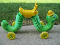 Tracy's Toys (and Some Other Stuff): Yard Sale Find: Vintage Hasbro Inchworm - Modern My Childhood Memories, Childhood Toys, Great Memories, Yard Sale Finds, 80s Kids, Retro Toys, Vintage Toys 1970s, My Memory, Old Toys