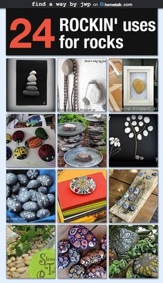Awesome projects you can make using rocks and pebbles.