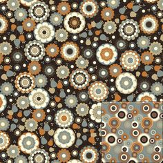 Double Face Quilt Fabric- Happy Circles