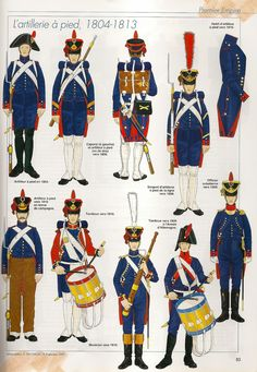 French foot artillery, 1804-1813