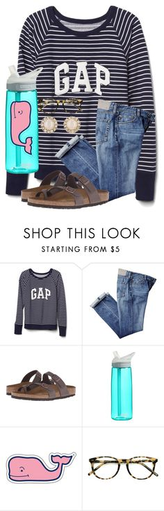 """ootd😇"" by chloehooker ❤ liked on Polyvore featuring Gap, Birkenstock, CamelBak, Vineyard Vines, Ace and Kate Spade"